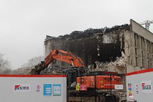 Demolition work has started at Crawley Civic Hall. Picture: Allan Hambly