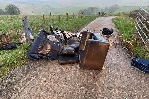 A recent fly-tipping incident on a farm in Steyning, West Sussex. Photo by Claire Bower