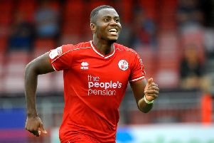 Bez Lubala was on the scoresheet in Crawley's 2-1 defeat at Carlisle at the start of the season. Picture by Steve Robards