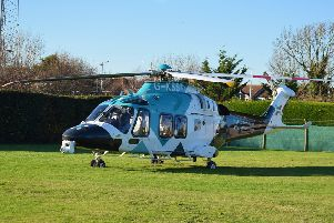 The Air Ambulance Kent Surrey and Sussex. Pic: Dan Jessup