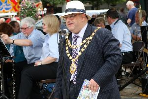 Howard Bloom when he served as mayor at the Crawley Festival