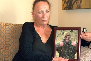 Viv Johnston, mother of special forces veteran Danny Johnston, has said she hopes Portsmouth's bid for the cash would help save the lives of soldiers like her sons. Photo: Tom Cotterill