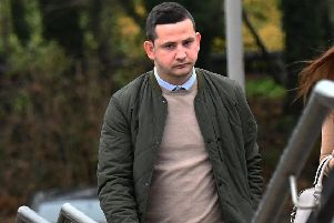 Niall Lavery at Craigavon Court on Thursday. ''Pic: Pacemaker
