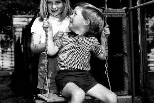 Lady Diana Spencer, aged eight, pictured in 1967 with her brother, Charles, now Earl Spencer, grew up at Althorp House near Great Brington