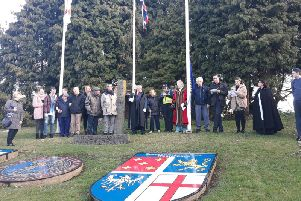 The mayor was joined by councillors and members of the public