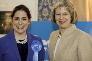 Victoria Atkins MP with then-Home Secretary Theresa May in 2015.