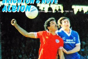 The matchday programme when Brighton played Manchester City in 1983