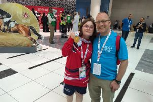 Skye and Trevor Westwood at the Championships in Abu Dhabi