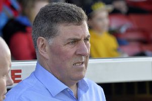 Eastbourne Borough manager Mark McGhee watches his side against Wealdstone in his first game in charge at Priory Lane (Photo by Jon Rigby) SUS-190225-105726008