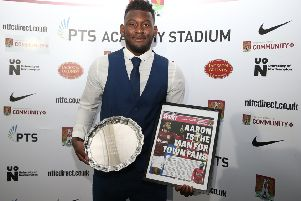 Aaron Pierre has been named the Cobblers player of the year (Picture: Pete Norton)