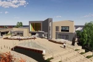 An artist's impression of how the new cinema in Daventry will look