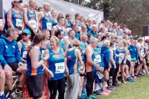 The huge Tone Zone team before the race