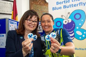 The blue butterfly scheme is the brainchild of Katrina Heath and PSCO Kirsten Bates.