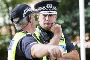 Northamptonshire Police Chief Constable Nick Adderley on patrol