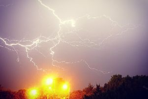 Thunderstorms hit Northamptonshire overnight