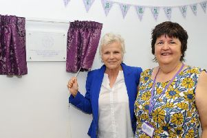 Dame Julie Walters DBE and Julie Budge, founder and CEO of My Sisters' House. Photo: Sarah Standing