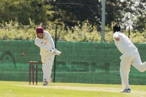 Henry Parker in Saturday's game with Attock