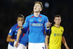Gaffer for a Day, Hugh Bunce, believes it is time to give Ronan Curtis a rest from Pompey's starting XI. Picture: PinPep Media/Joe Pepler
