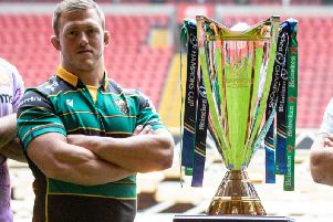 Alex Waller represented Saints at the Champions Cup launch