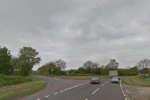 The incident took place on the A45, at the junction with the B4037. Picture: Google Maps.