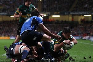 Phil Dowson scored against Leinster in the 2011 Heineken Cup final in Cardiff