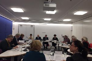 The county council's scrutiny committee expects the report next month.