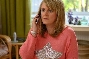 Sally Lindsay played the victim of a scammer in Channel Five's Cold Call