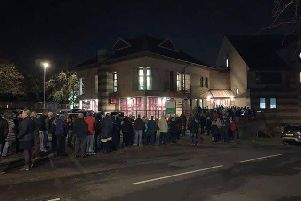 Hundreds of people were told they would not be able to fit into the building. Picture courtesy of Iain Osborne.