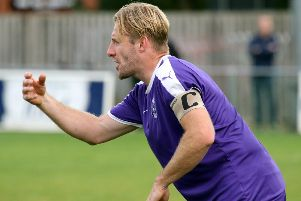 Ross Harris was in top form for Daventry Town at Halesowen Town