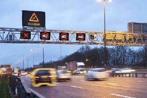 A stretch of the M1 between Northampton and Milton Keynes is being turned into a smart motorway.