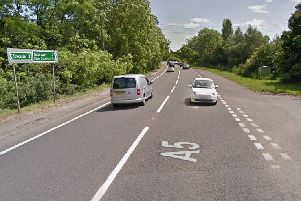 Monday night's crash happened near the Pury End turn on the A5 in Northamptonshire.