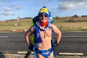 Mick Cullen pictured on January 29 on the outskirts of Weedon Bec.