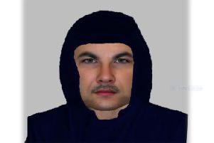 Police issued this E-fit of the man they want to find