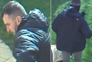 Police issued CCTV pictures of this man following the break-in