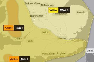 Met Office weather alerts are in force for Saturday and Sunday this weekend