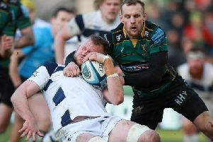 Rory Hutchinson was sin-binned for a high tackle on Joe Joyce