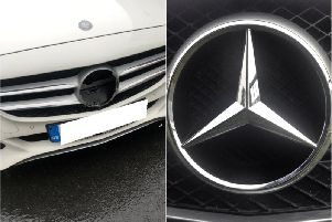 One resident woke up this morning to find the badge on her car had been removed.