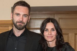Johnny McDaid with fiance Courteney Cox