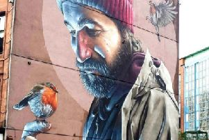 This piece of street art in Glasgow has helped transform the area.