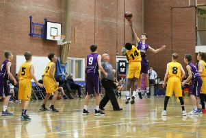 Action from Titans 77-28 victory over Sheffield Sharks in the U14 boys North Premier