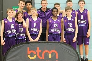 The NEBC Titans U14 team, who competed in the Battle in the Capital, pose for the camera