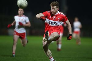 Enda Lynn hit 0-05 as Derry strolled to victory against the Ulster University at Owenbeg