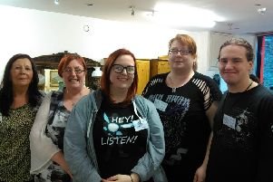 Left to right: Volunteers Marion Rankin, Ronagh O'Donnell, Shauna O'Donnell, Amanda Vincent and Eddie Vincent.