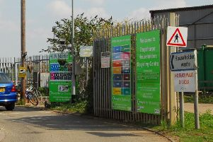 The household recycling centre at Dogsthorpe which will soon close ENGEMN00120130828152433