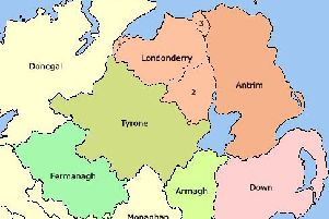 The counties of the north of Ireland (Picture by en.wikipedia.org/wiki/User:Mabuska)