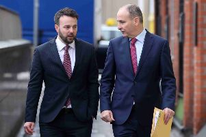 SDLP's Colm Eastwood MLA and Fianna Fail's Micheal Martin TD pictured together last month.