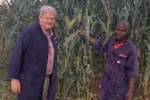 Photo caption (L-R): Michael Maguire, East African Director, Devenish pictured in Uganda with William Isoke, Feed Mill Supervisor, Devenish.