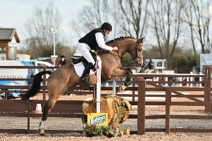 Denis Currie riding Arodstown Aramis, clear in the 1m XC