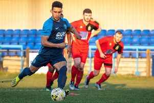 Lorrell Smith levels for Arlesey. Picture: Guy Wills