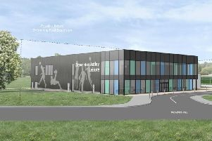 An artist's impression of the planned leisure centre